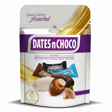 Dates N Choco Assorted Dates With Almond Coated Chocolate
