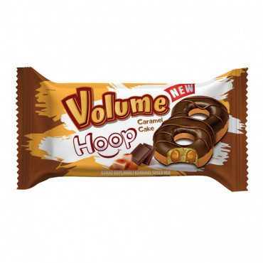 Volume Hoop Cocoa Coated Cake Filled With Caramel Sauce