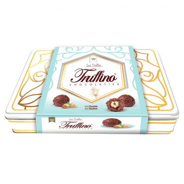 Truffino Milk Truffle Chocolate With Hazelnut Filled Hazelnut Cream - 365 gr