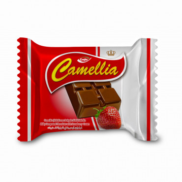 Camellia Milk Compound Chocolate Filled With Strawberry Cream
