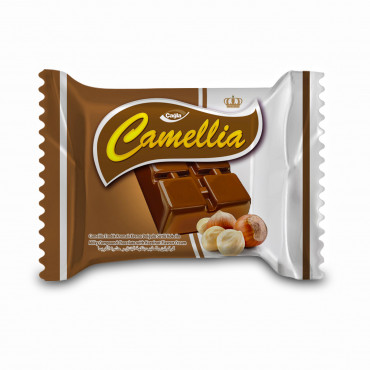 Camellia Milk Compound Chocolate Filled With Hazelnut Flavour Cream - 10 gr