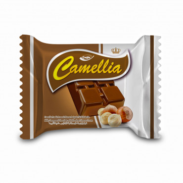 Camellia Milk Compound Chocolate Filled With Hazelnut Flavour Cream