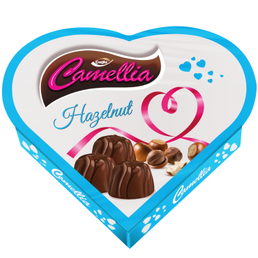 Camellia Milk Compound Chocolate Filled With Hazelnuts Flavour Cream