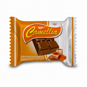 Camellia Milk Compound Chocolate Filled With Caramel Flavour Cream - 10 gr