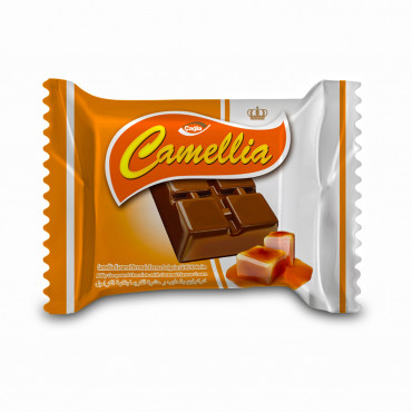 Camellia Milk Compound Chocolate Filled With Caramel Flavour Cream