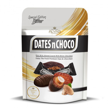 Dates N Choco Dates With Almond Coated With Dark Chocolate