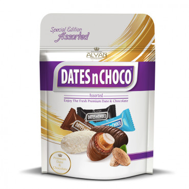 Dates N Chcoco Assorted Dates With Almond Coated Chocolate