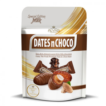 Dates N Choco Dates With Almond Coated With Milk Chocolate