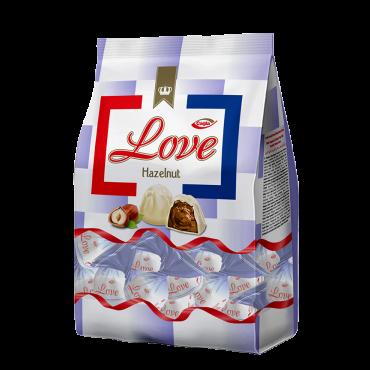 Love Hazelnut Flavoured Cream Filled White Compound