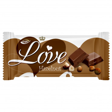 Love Milk Compound Chocolate Filled With Hazelnut Flavour Cream -80 gr