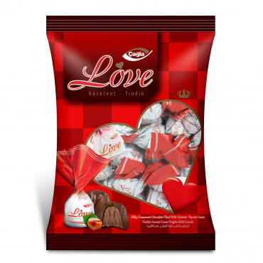 Love  Milk Compound Chocolate Filled With Hazelnut Flavour Cream - pack