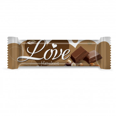 Love Milk Compound Chocolate Filled With Hazelnut Flavour Cream