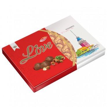 Love Milk Compound Chocolate Filled With Hazelnut Flavour Cream