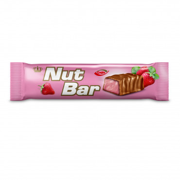 Nutbar Milk Compound Chocolate Filled With Strawberry Flavour Cream