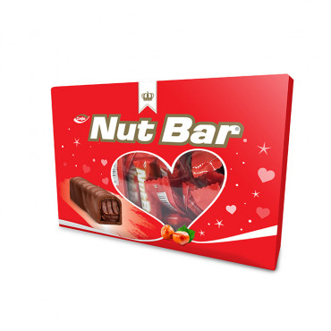 Nutbar Milk Compound Chocolate Filled With Hazelnut Flavour Cream - 600gr