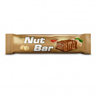 Nutbar Milk Compound Chocolate Filled With Hazelnut Flavour Cream