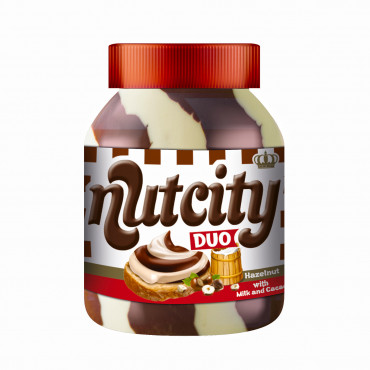 Nutcity Duo Hazelnut Cream With Milk and Cocoa - jar