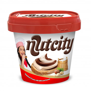 Nutcity Duo Hazelnut Cream With Milk and Cocoa - box