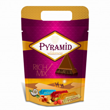 Pyramid Mixed (Hazelnut&Caramel&Strawberry& Coconut) Compound Chocolate