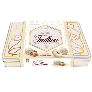 Truffino White Truffle Chocolate With Almond And Coconut - 365 gr