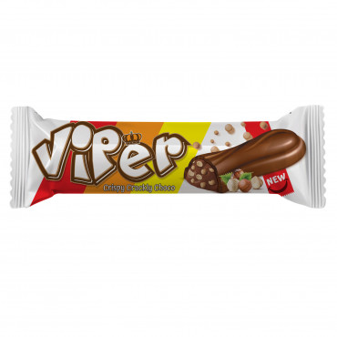 Viper Milk Compound Chocolate Filled With Hazelnut Flavour Cream and Puffed Rice