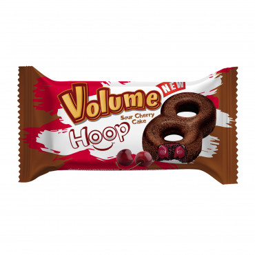 Volume Hoop Cocoa Cake With Sour Cherry Sauce