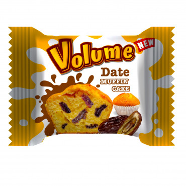 Volume Muffin Cake with Dates Pieces
