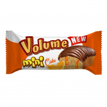 Volume Mini Cocoa Coated Cake Filled With Orange Sauce