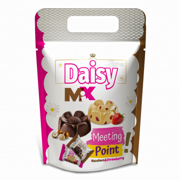 Zerre Daisy Milk Compound Chocolate Filled With Hazelnut Flavour Cream & White Compound Chocolate