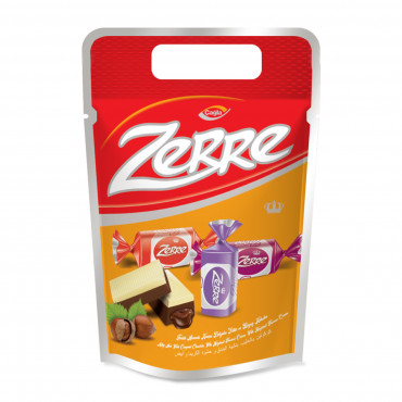 Zerre  Milk and  White Compound Chocolate Filled With Hazelnut Flavour Cream - pack