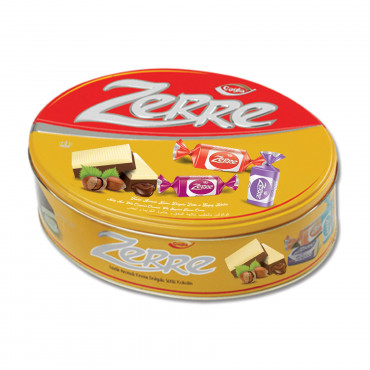 Zerre Milk and White Compound Chocolate Filled With Hazelnut Flavour Cream